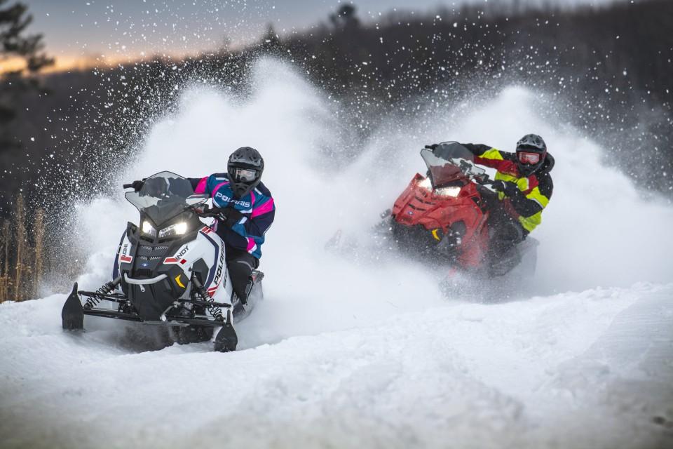 Valentine's Day Snowmobiling